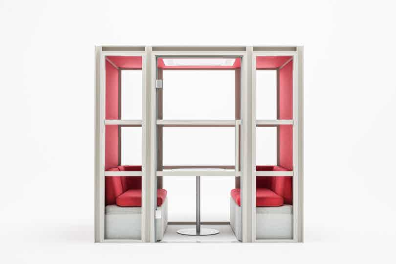 Mdd furniture hako acoustic pod red front haute living