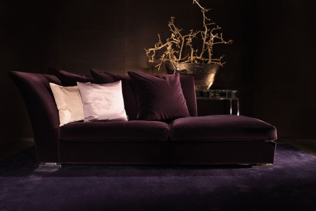 Mercer Chaise Longue Purple