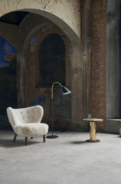 AndTradition Mezcla Side Table with Little Petra Chair Insitu Haute Living