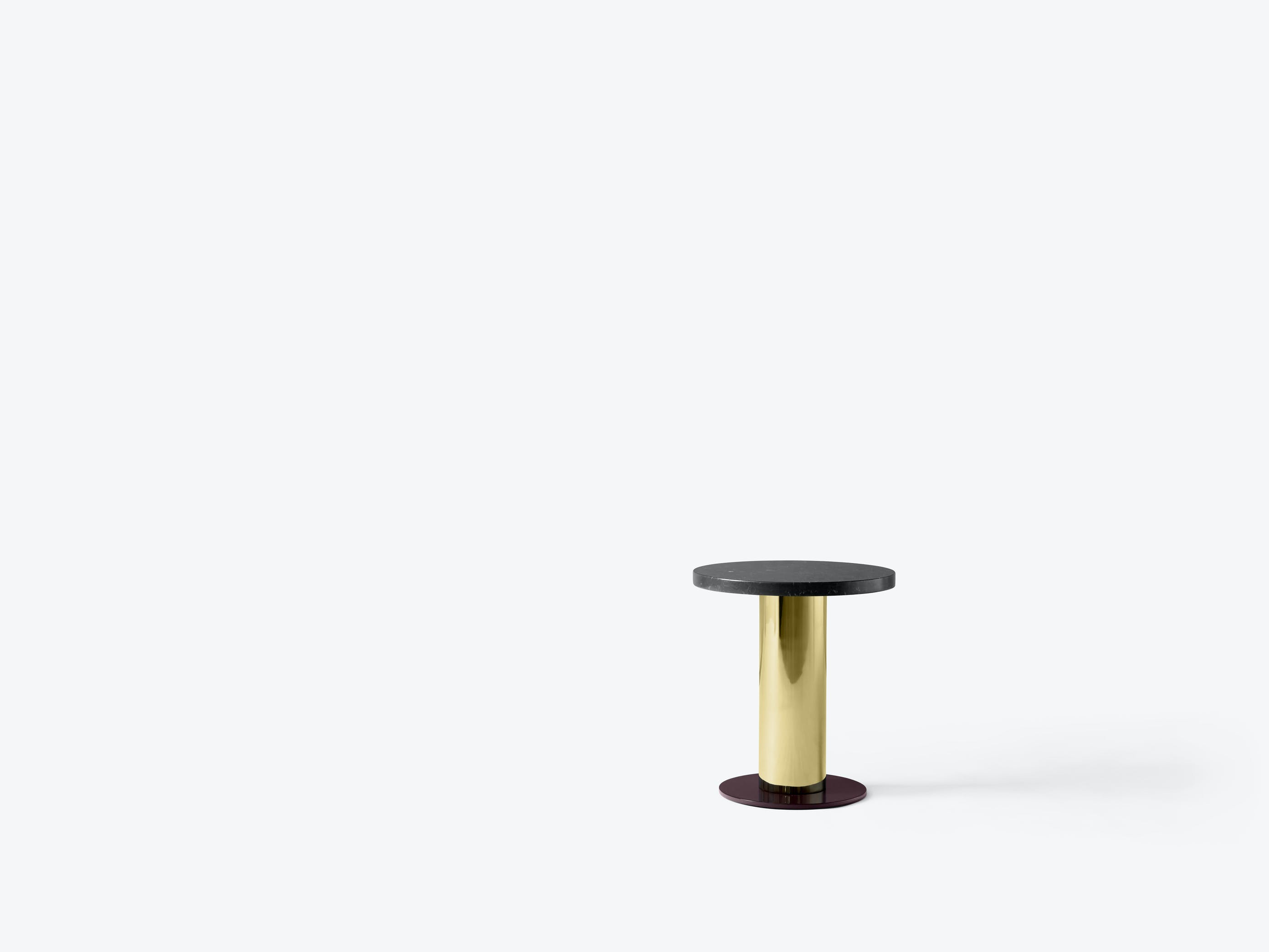 Andtradition Mezcla Side Table Black Marble Top Haute Living