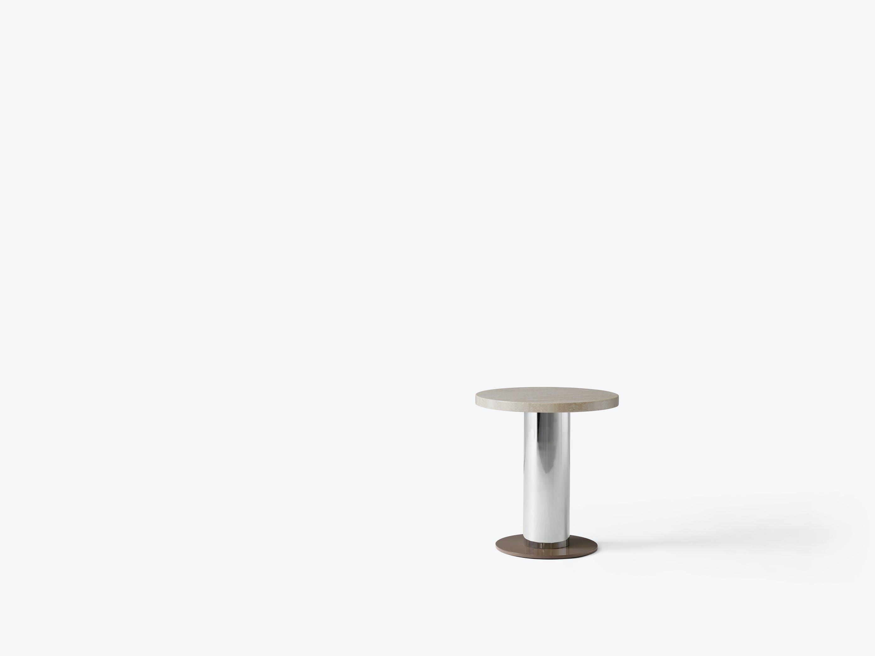 AndTradition Mezcla Side Table Travertine Top Haute Living