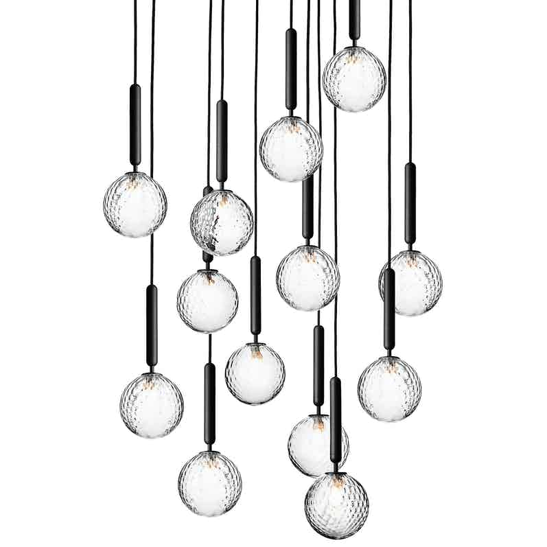 Nuura optic miira 13 chandelier thumbnail haute living 2019