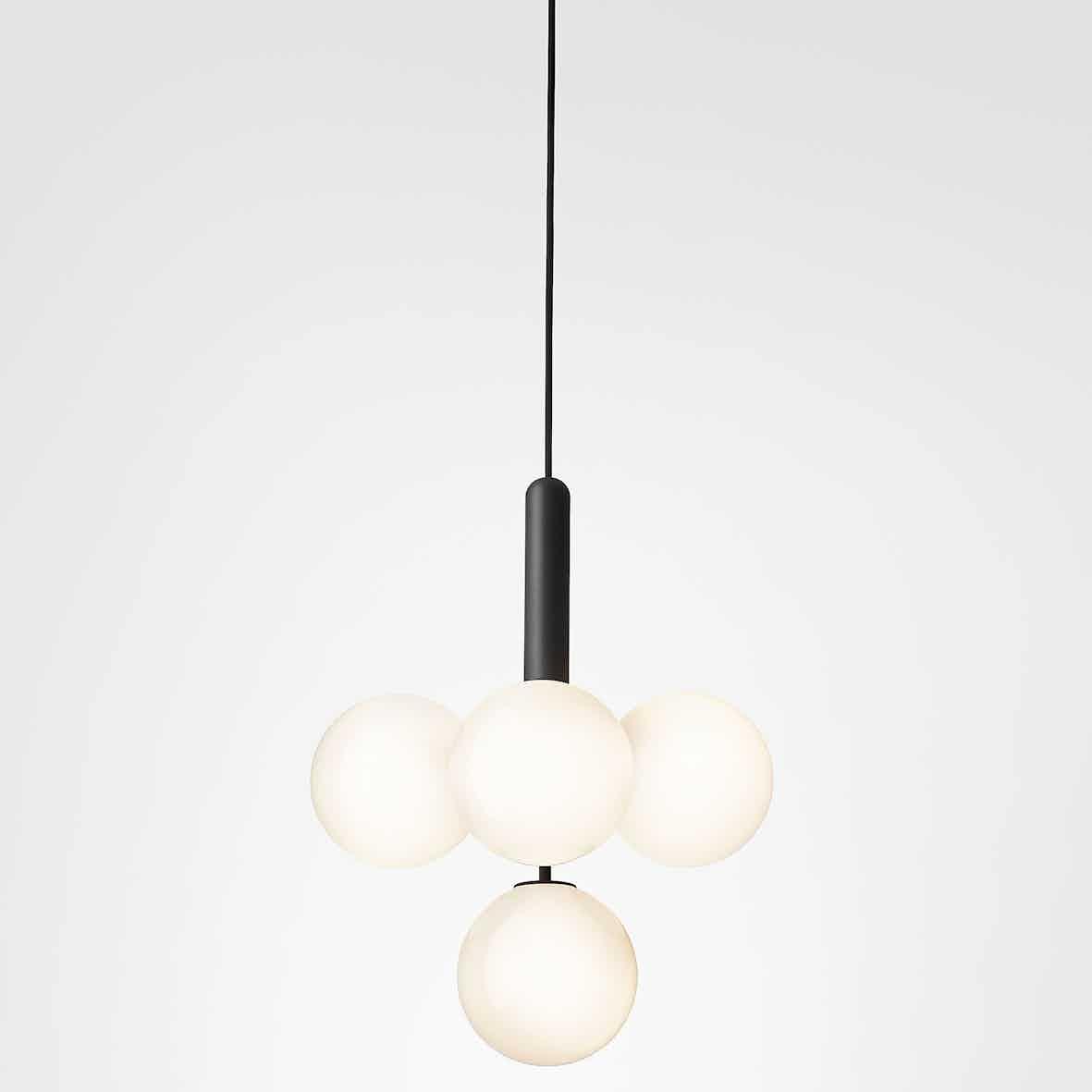 Nuura opal miira 4 chandelier haute living