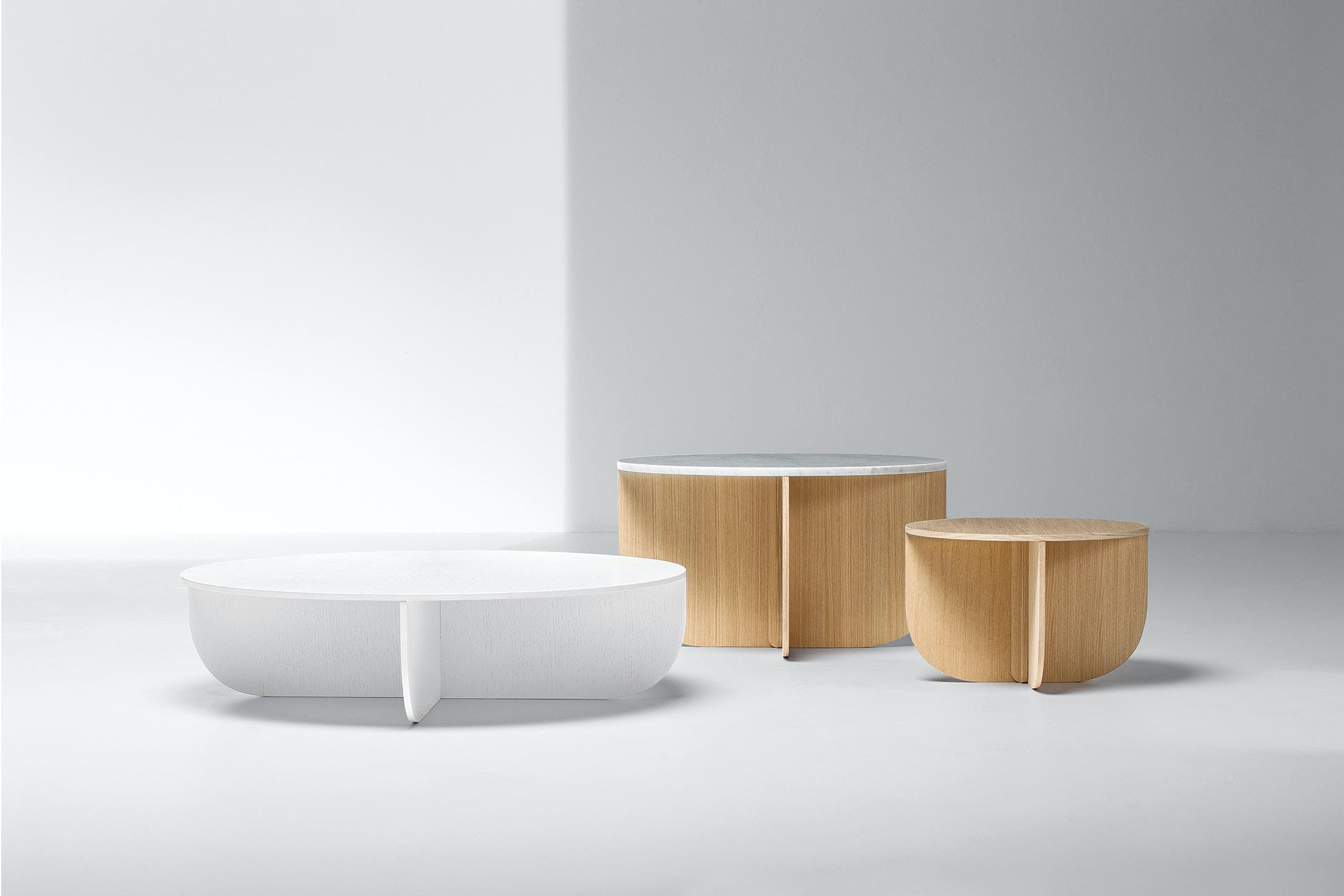La Cividina Mil Coffee Table Trio Haute Living