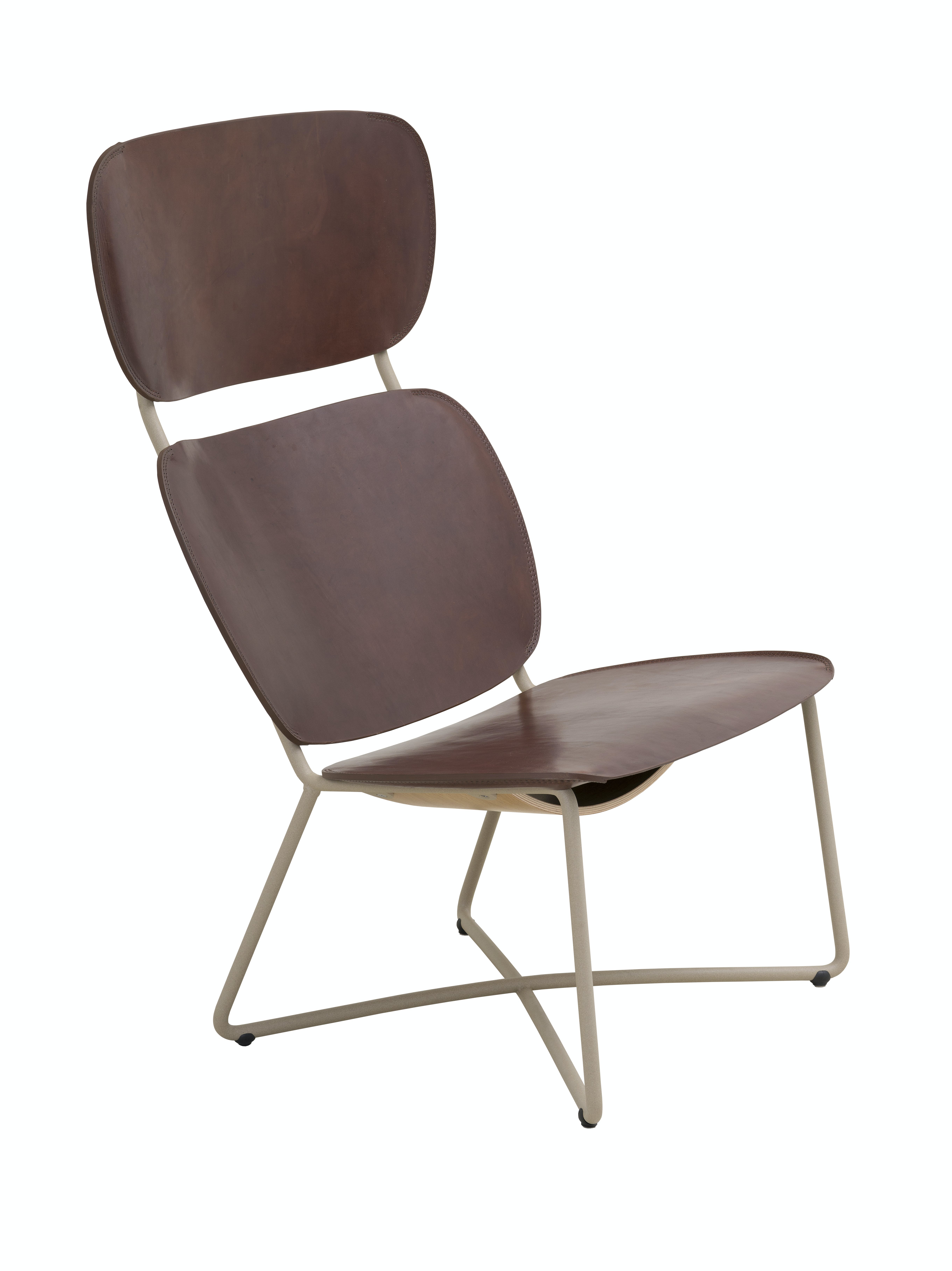 Functionals Miller High Back Chair Dark Brown Leather Haute Living