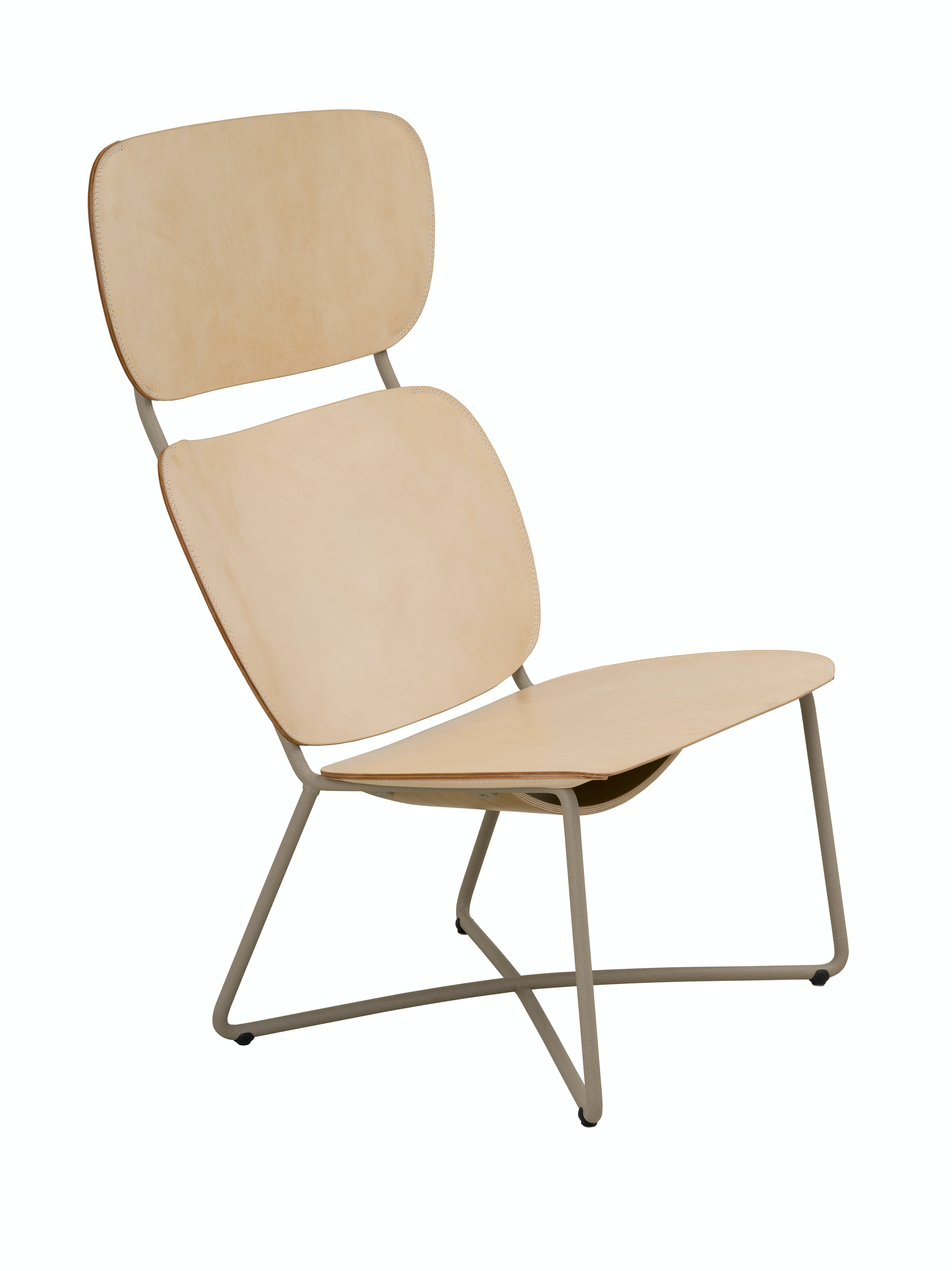 Functionals Natural Leather Miller High Back Chair Haute Living