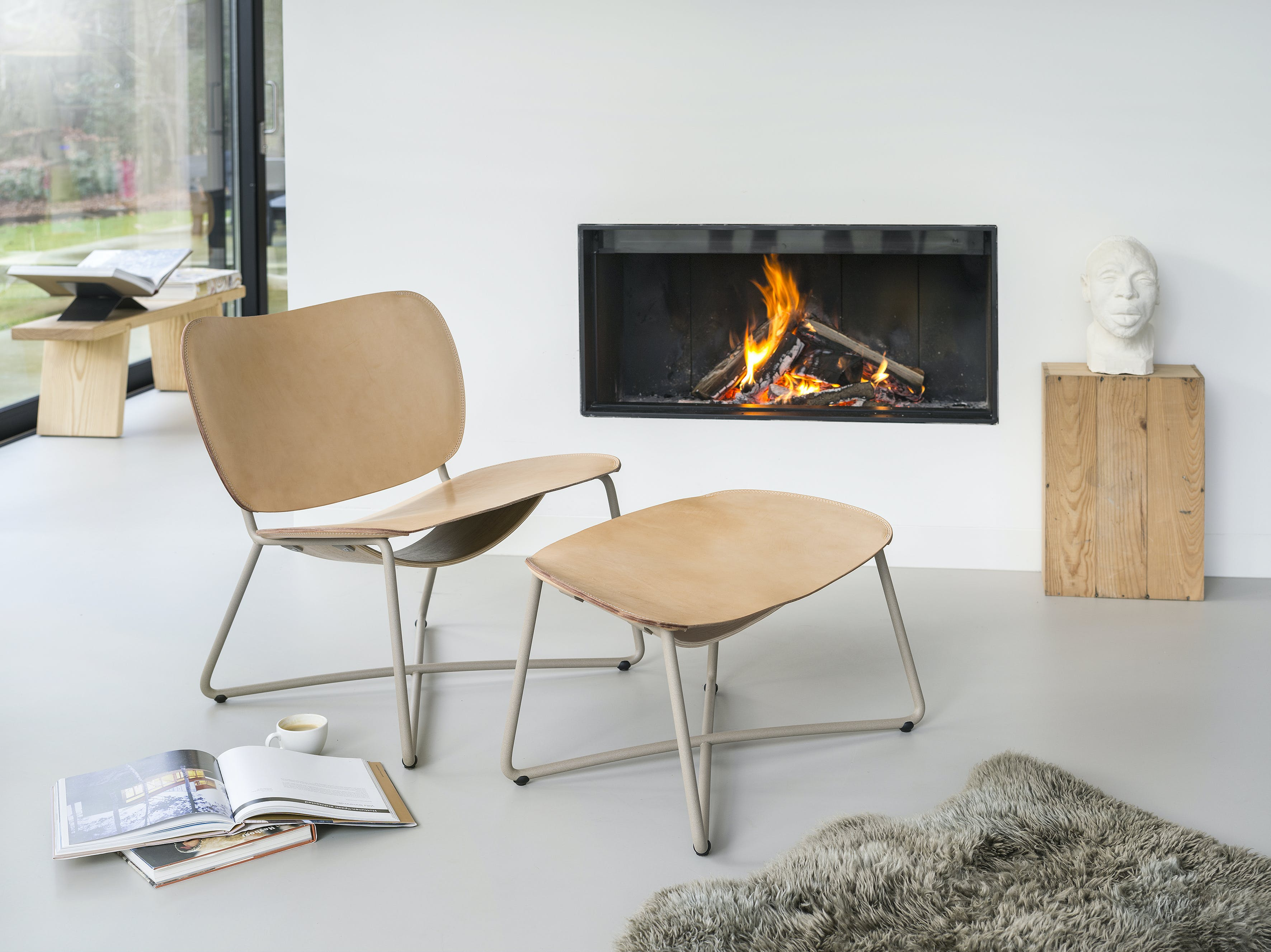 Functionals Natural Leather Miller Lounge Chair Insitu Haute Living