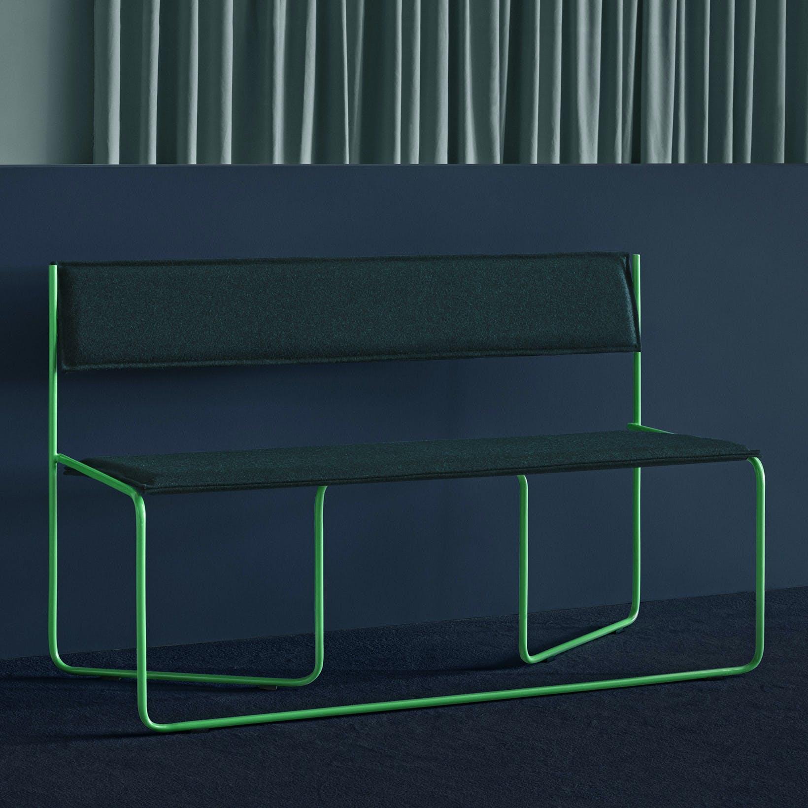 Missana Navy Green Trampolin Bench Insitu Haute Living