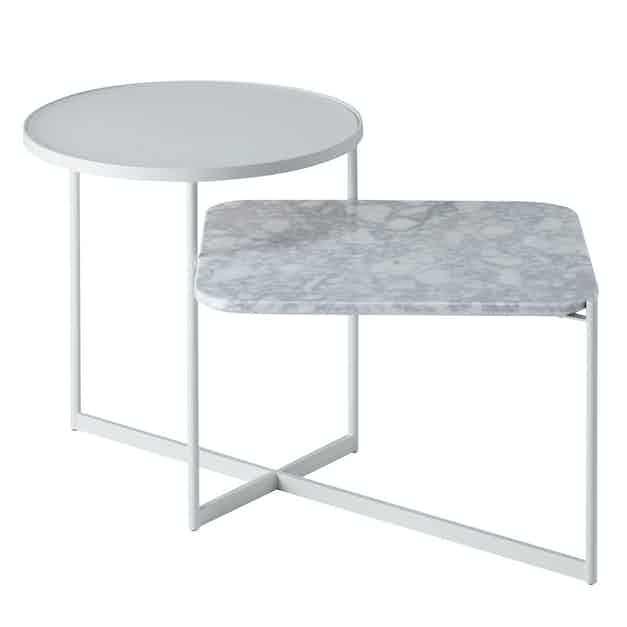Sp01 design mohana table medium white haute living