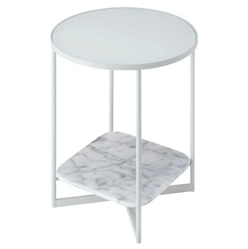 Sp01 design mohana table small white haute living