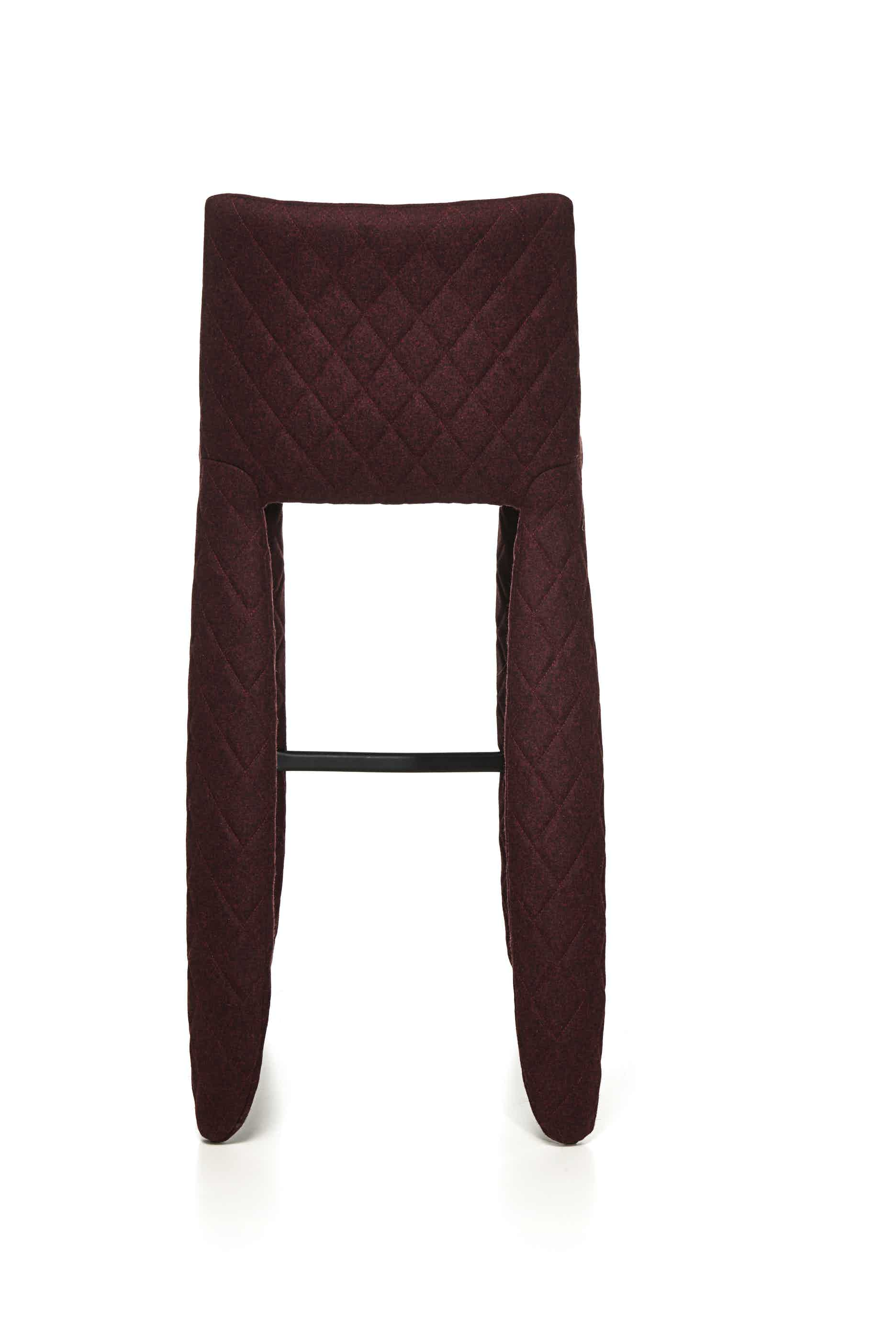 Moooi monster bar stool divina melange back straight haute living