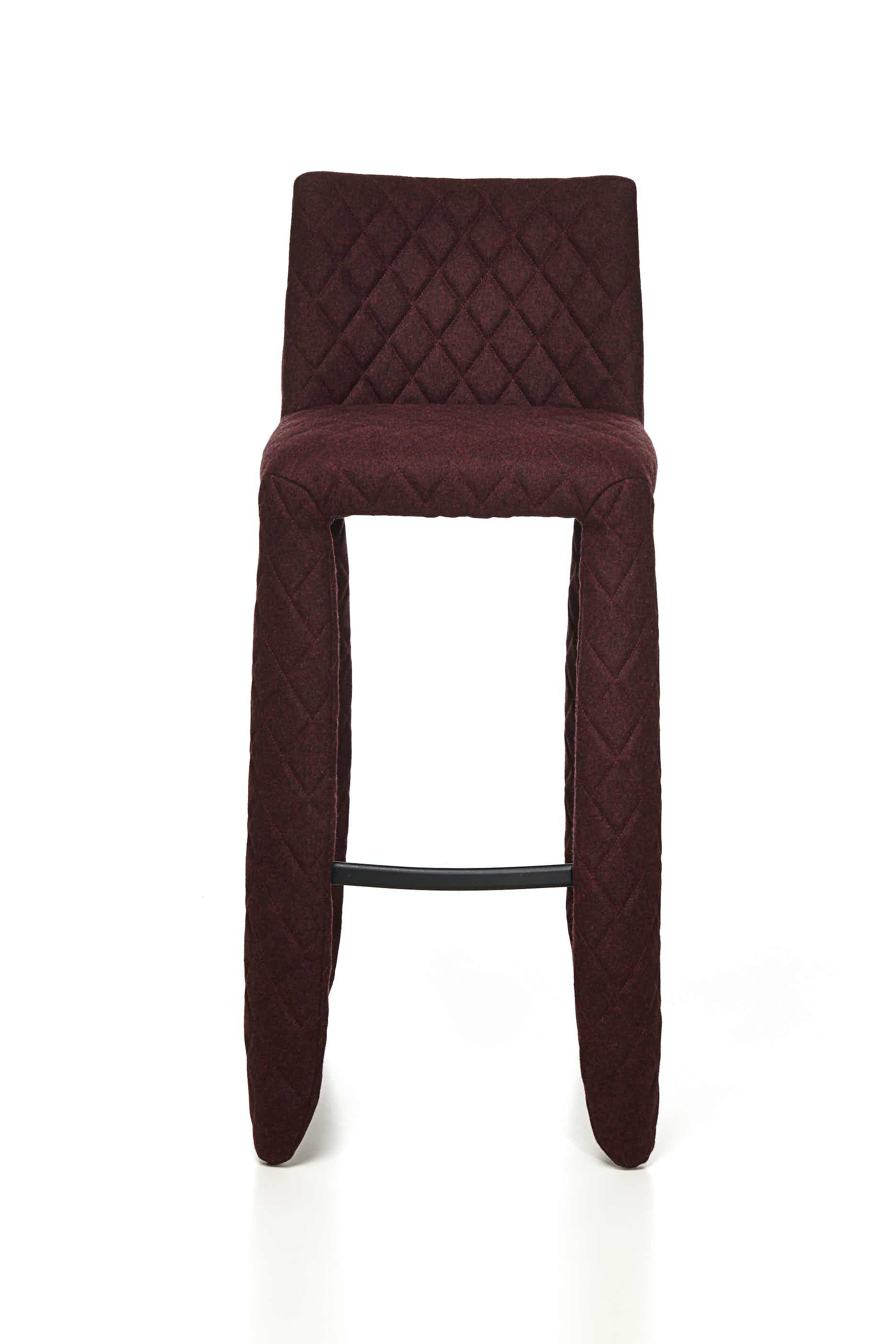 Moooi monster bar stool divina melange front haute living