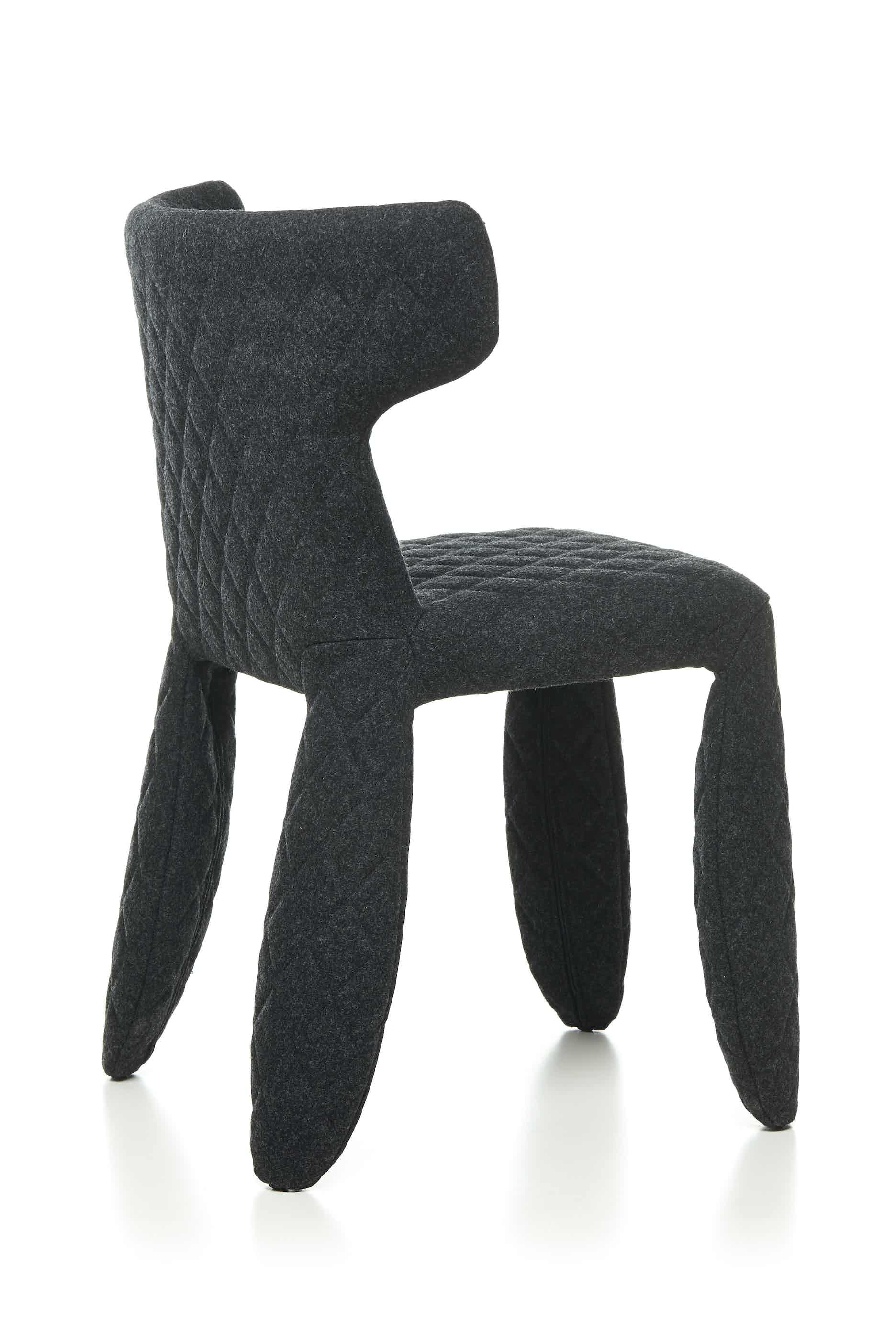 Moooi monster chair divina melange black back angle haute living