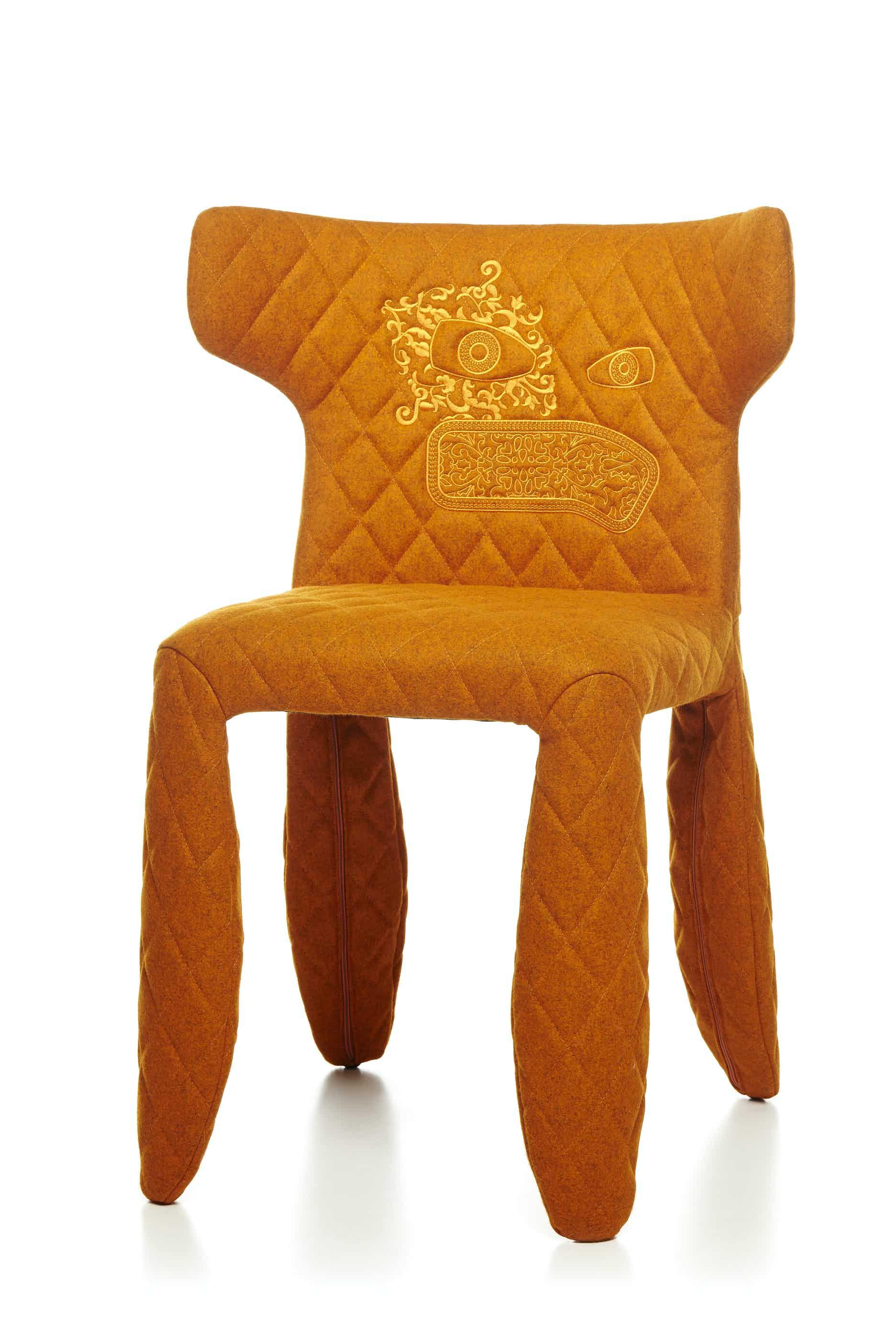 Moooi monster chair divina melange orange haute living