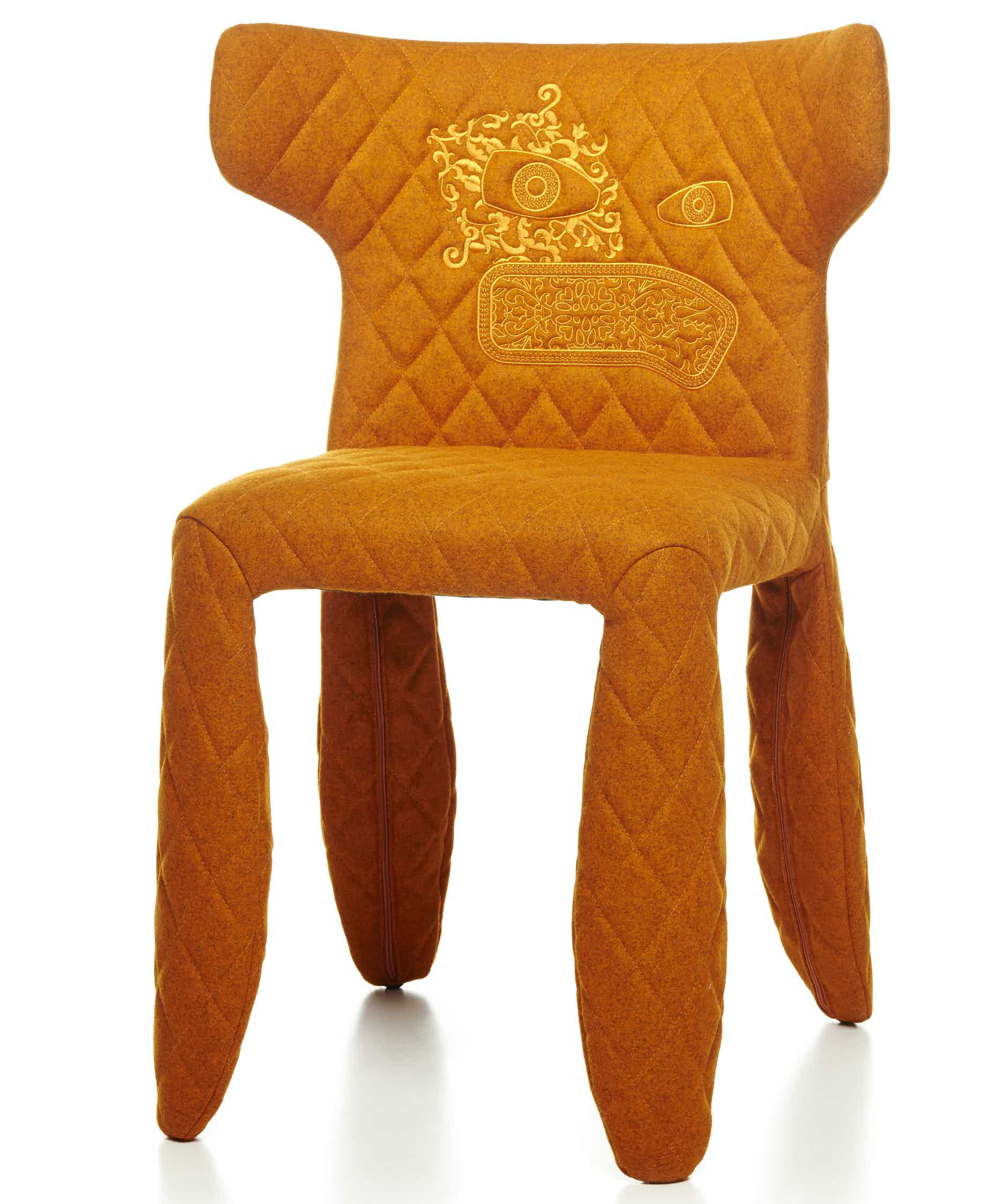 Moooi monster chair divina melange orange haute living