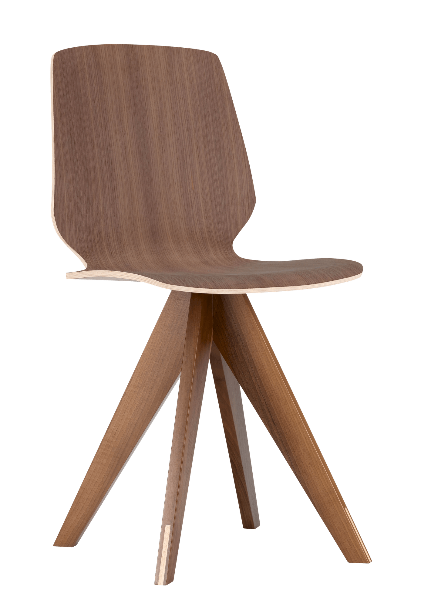 bolia brown mood dining chair haute living