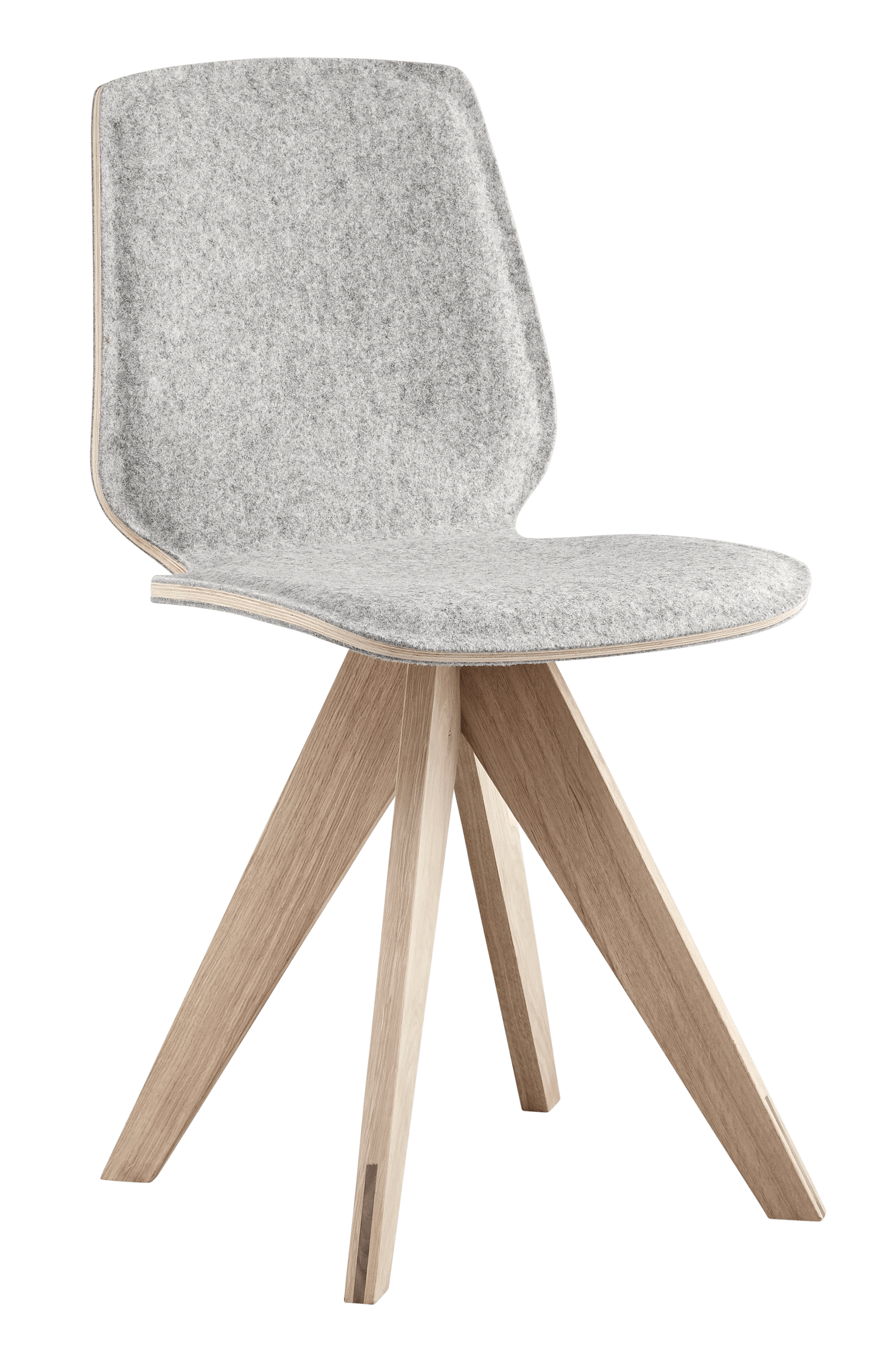 bolia grey upholstered mood dining chair haute living