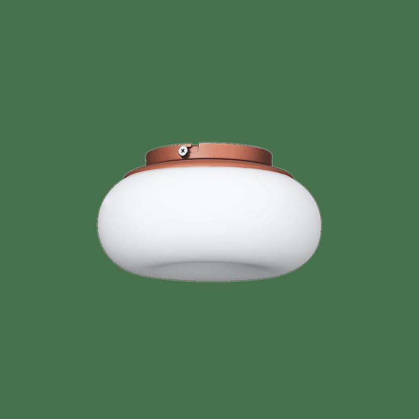 Ago lighting small mozzi terracotta unlit haute living