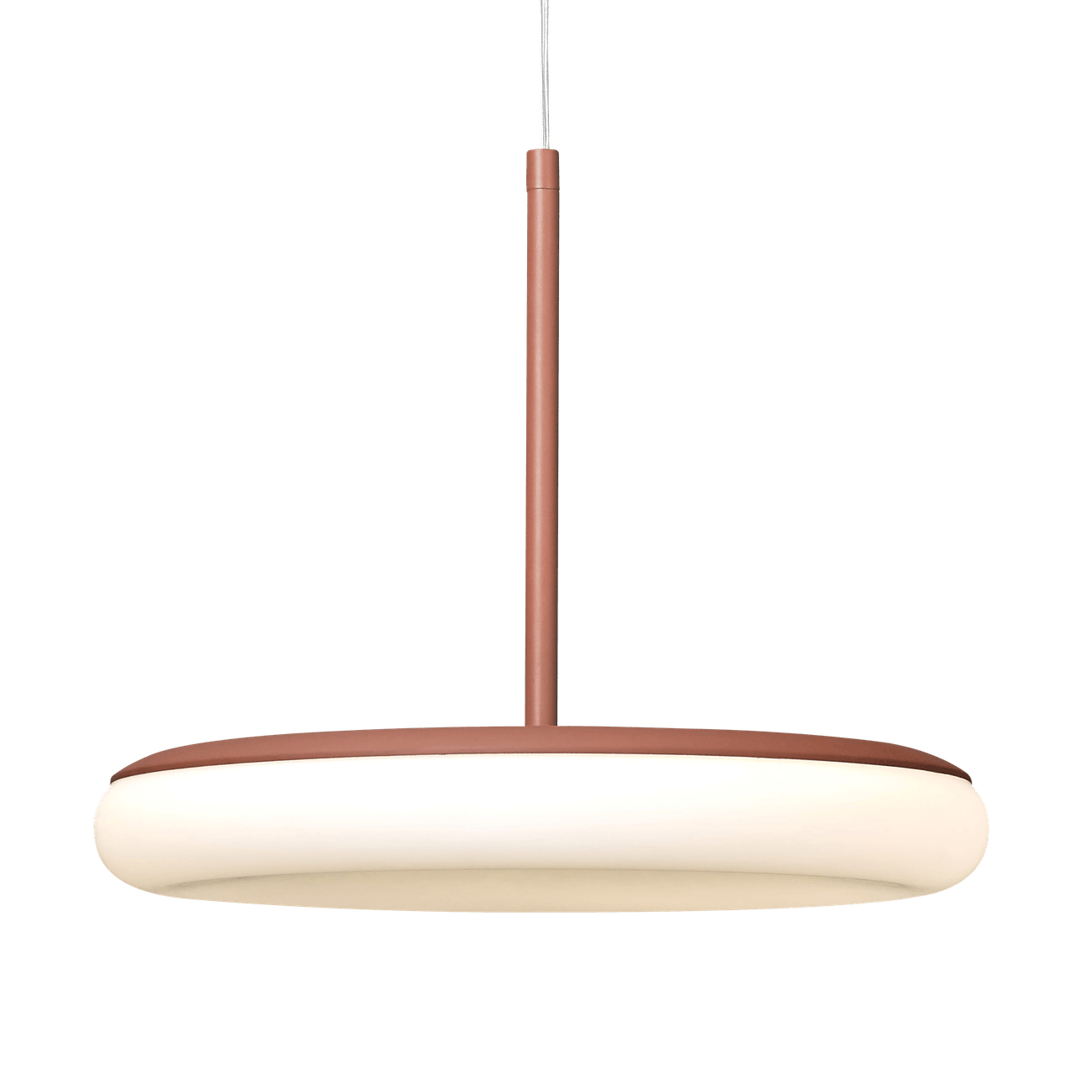 Ago lighting mozzi large pendant terracotta lit haute living