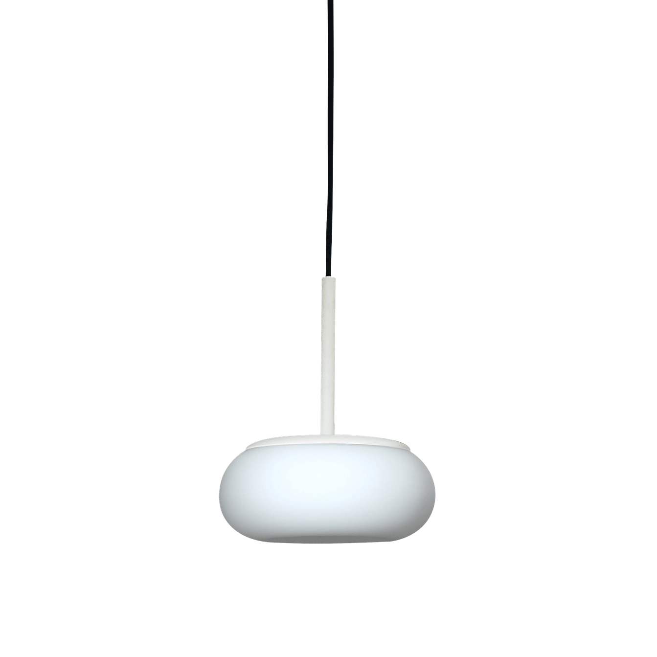 Ago lighting small mozzi pendant cream haute living