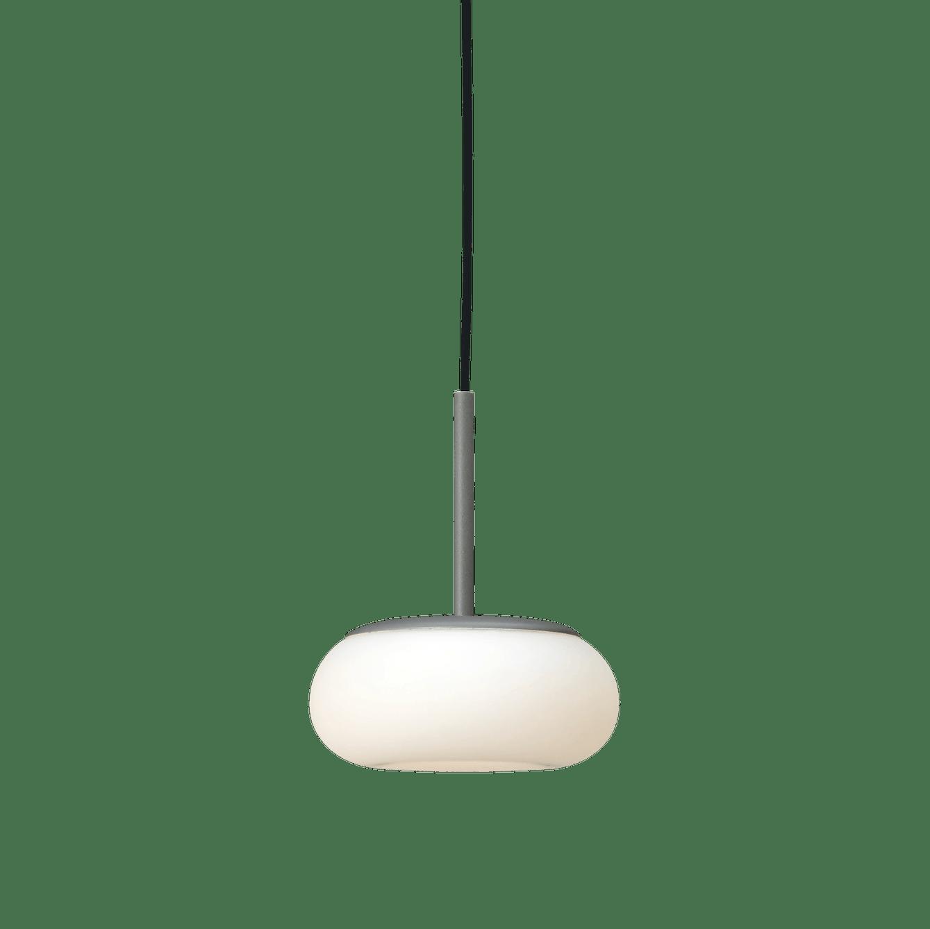 Ago lighting small mozzi pendant grey lit haute living