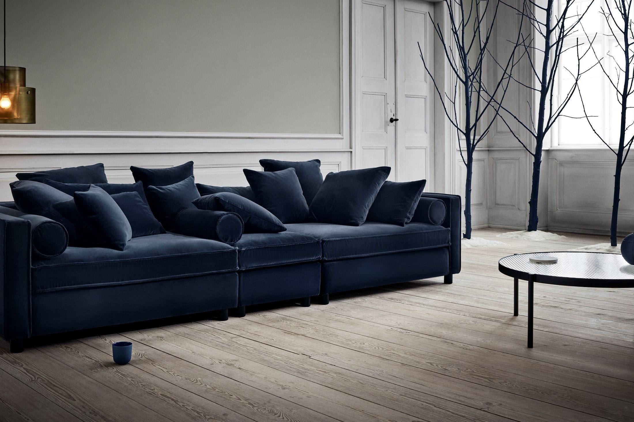 ... Bolia Blue Velvet Mr Big Sofa Insitu Haute Living ...