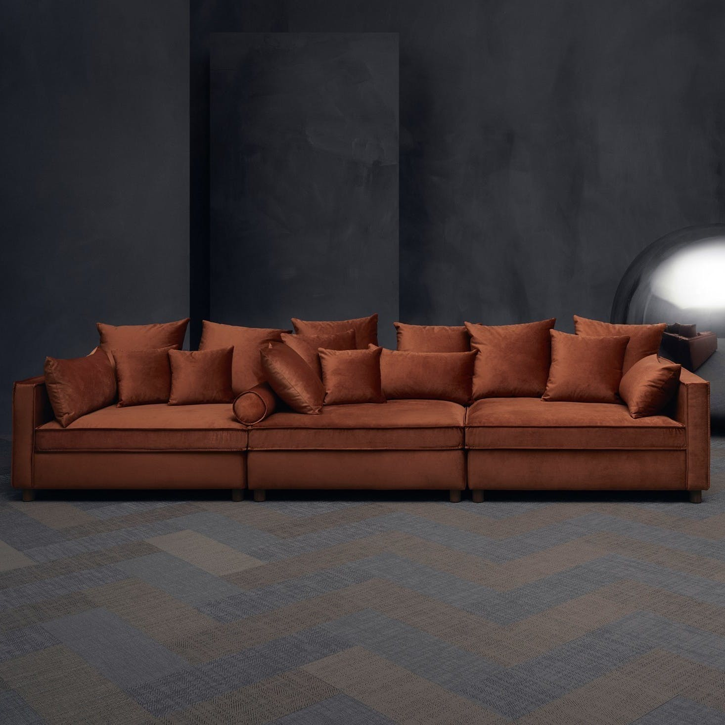 Bolia Orange Mr Big Sofa Haute Living