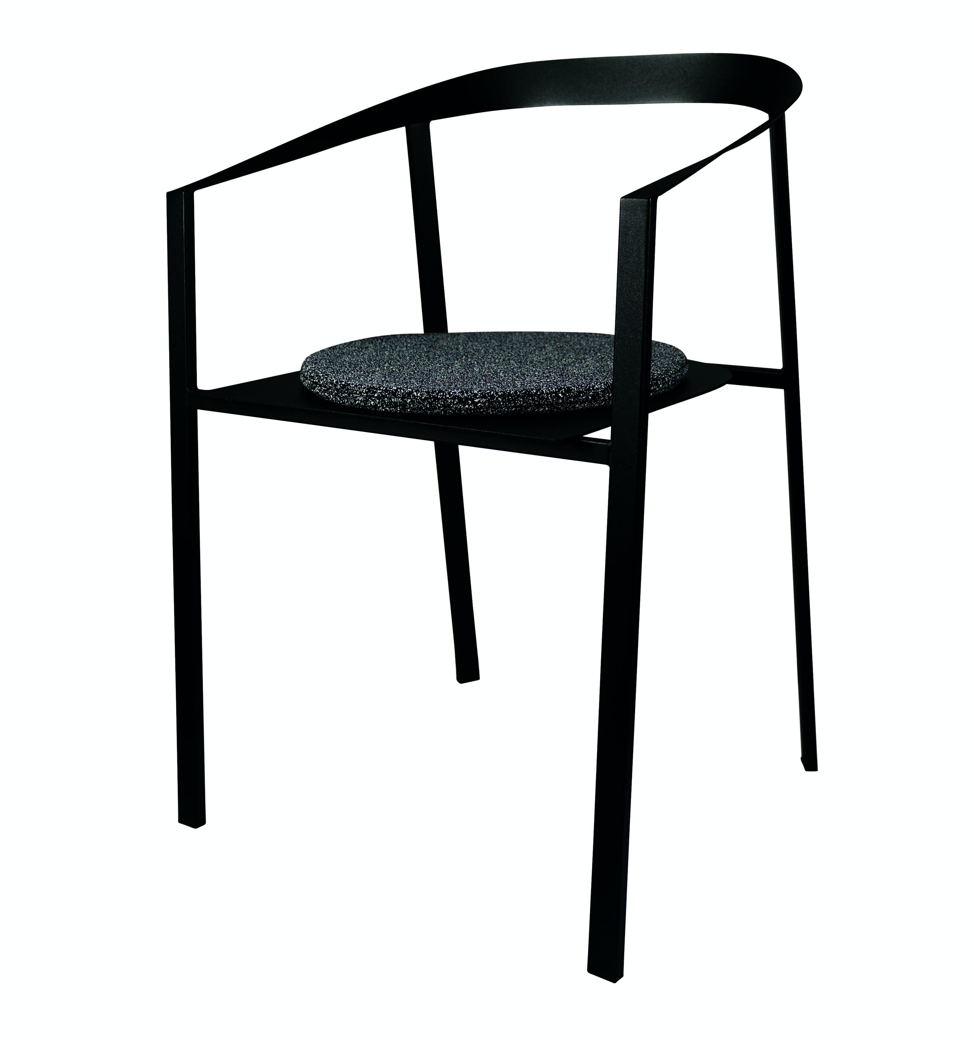 Mychair Black Cushion Grey