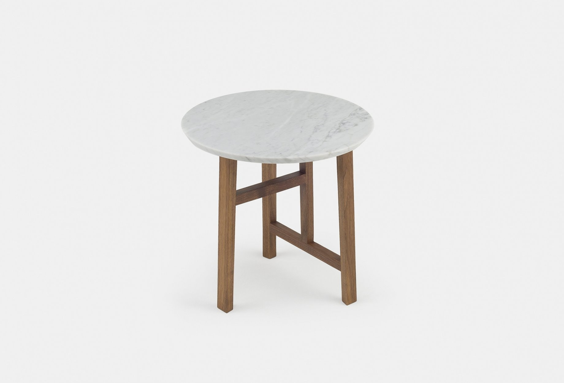 Trio Side Table By Neri Hu In Walnut And Marbleweb 1840X1250