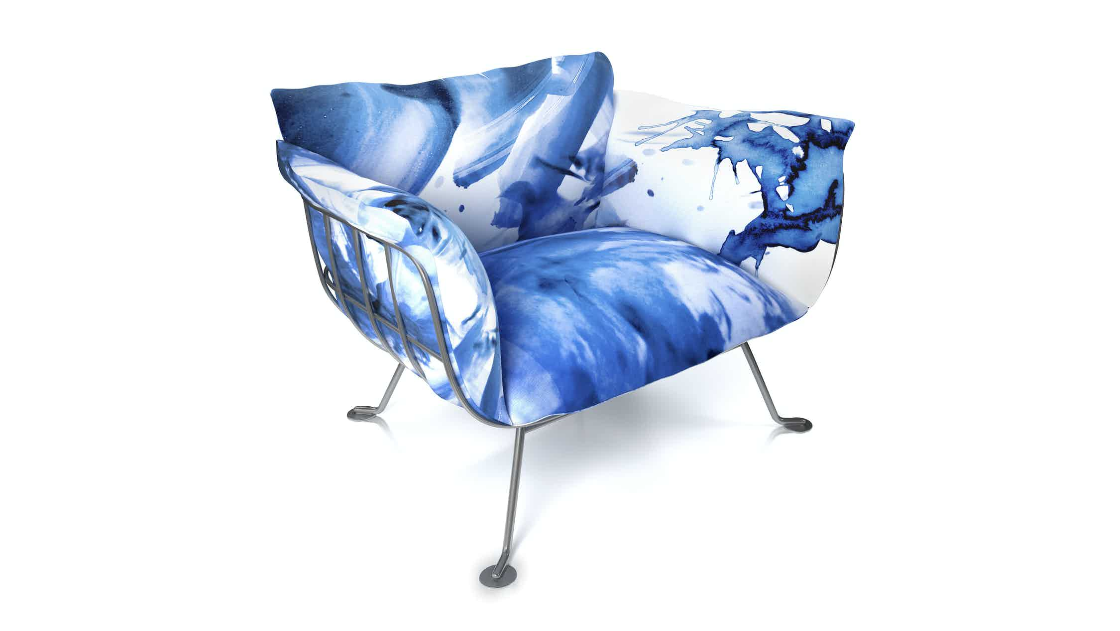 Nest Chair Old Blue By Marcel Wanders For Moooi Moooi 300Dpi Moooi