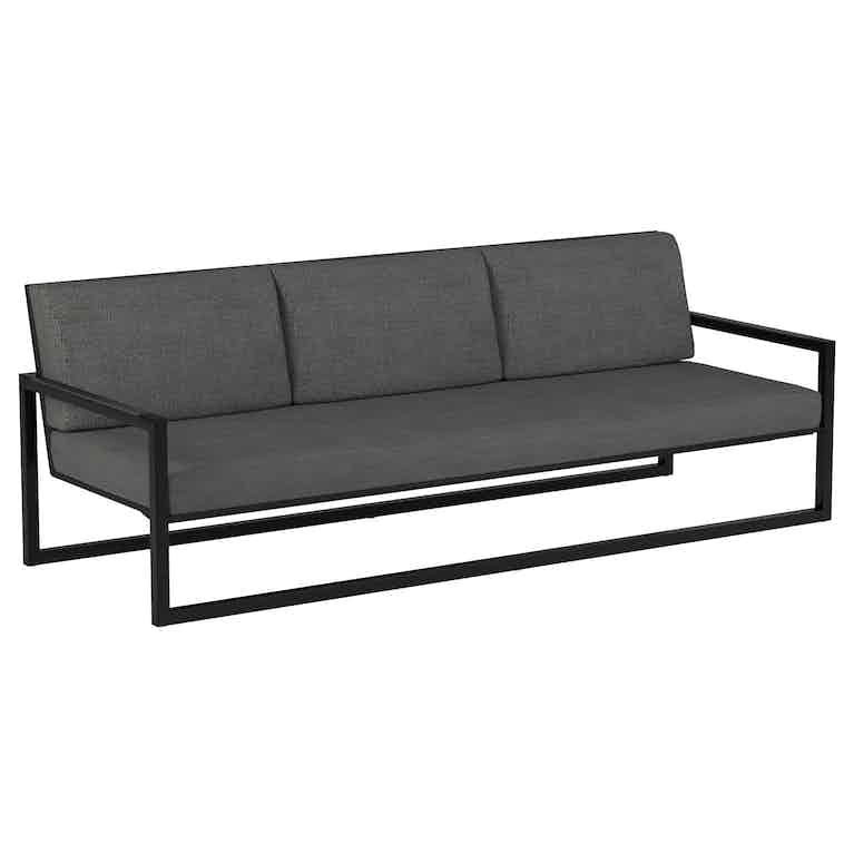Royal Botania Ninix Lounge Bench Black Haute Living