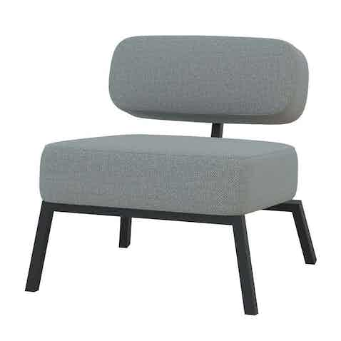 Studio henk ode lounge chair without armrests black grey haute living