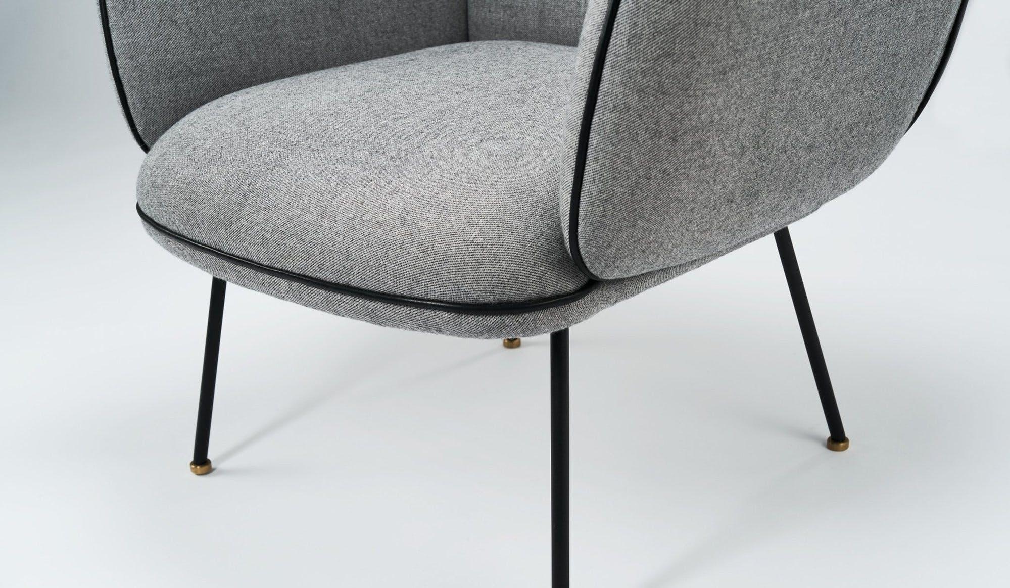Won Grey Ollie Chair Detail