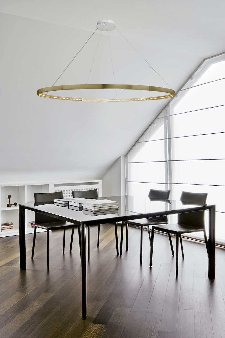 Le-deun-luminaires-omega-hanging-lamp-bright-gold-table-haute-living