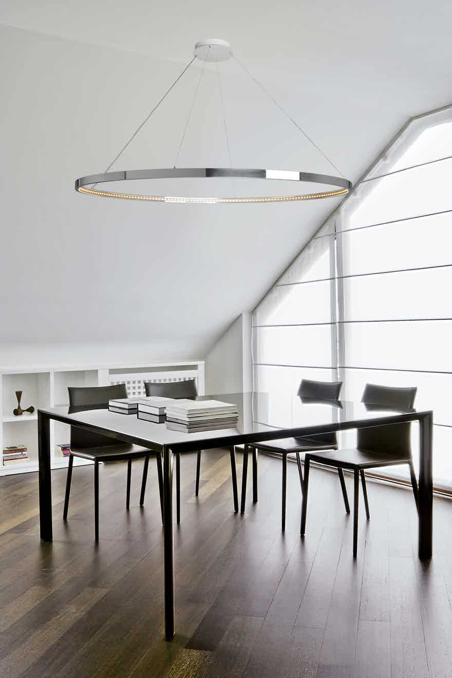 Le-deun-luminaires-omega-hanging-lamp-silver-table-haute-living