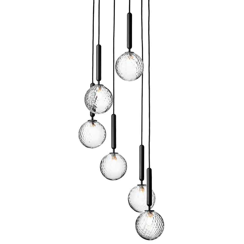 Nuura optic miira 6 chandelier thumbnail haute living 2019