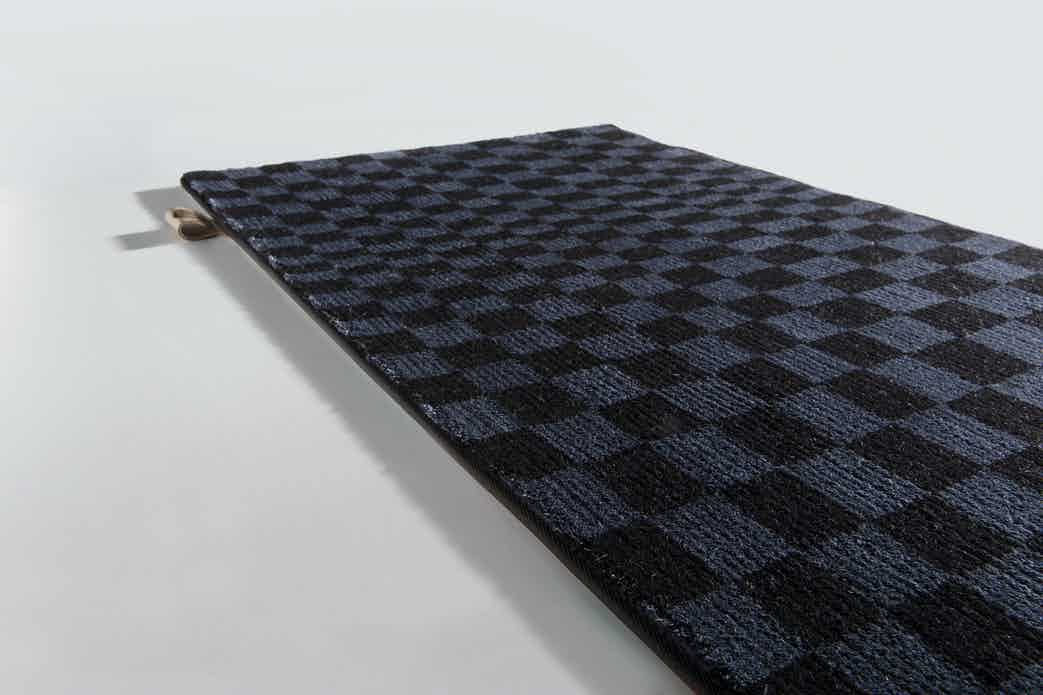Limited Edition Rugs Optic Rug Blue Graphite Haute Living