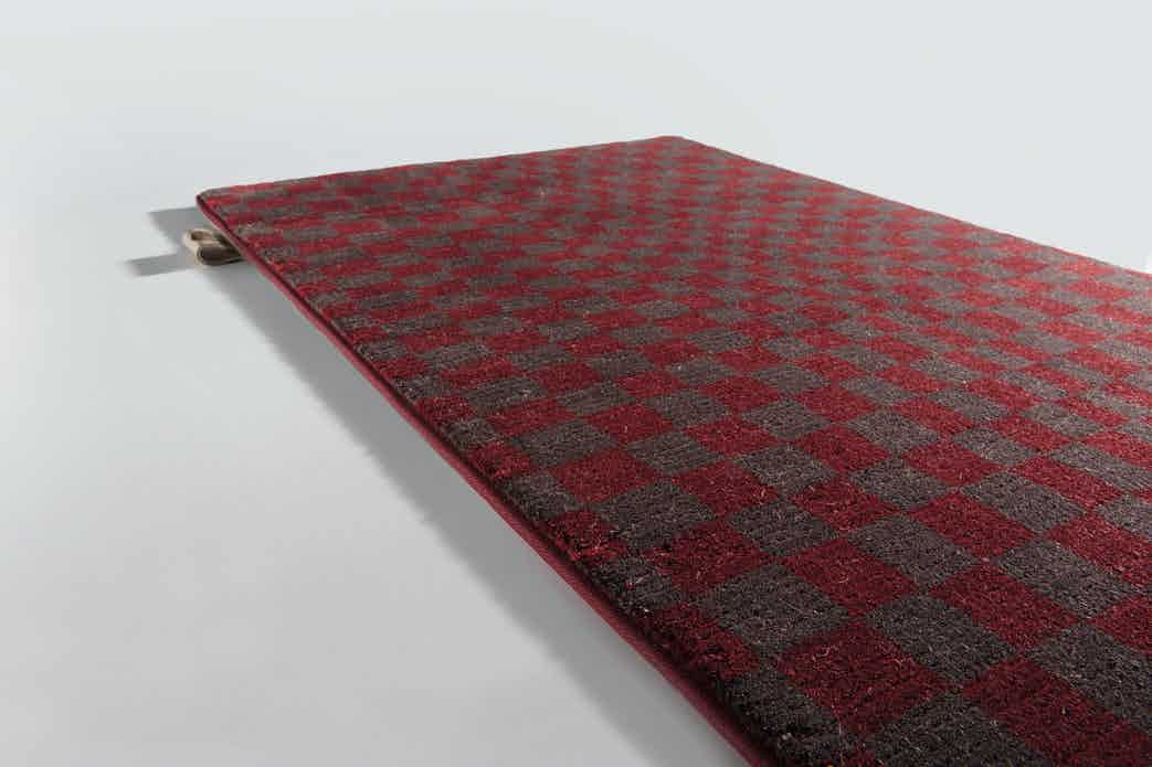 Limited Edition Rugs Optic Rug Ruby Wine Haute Living