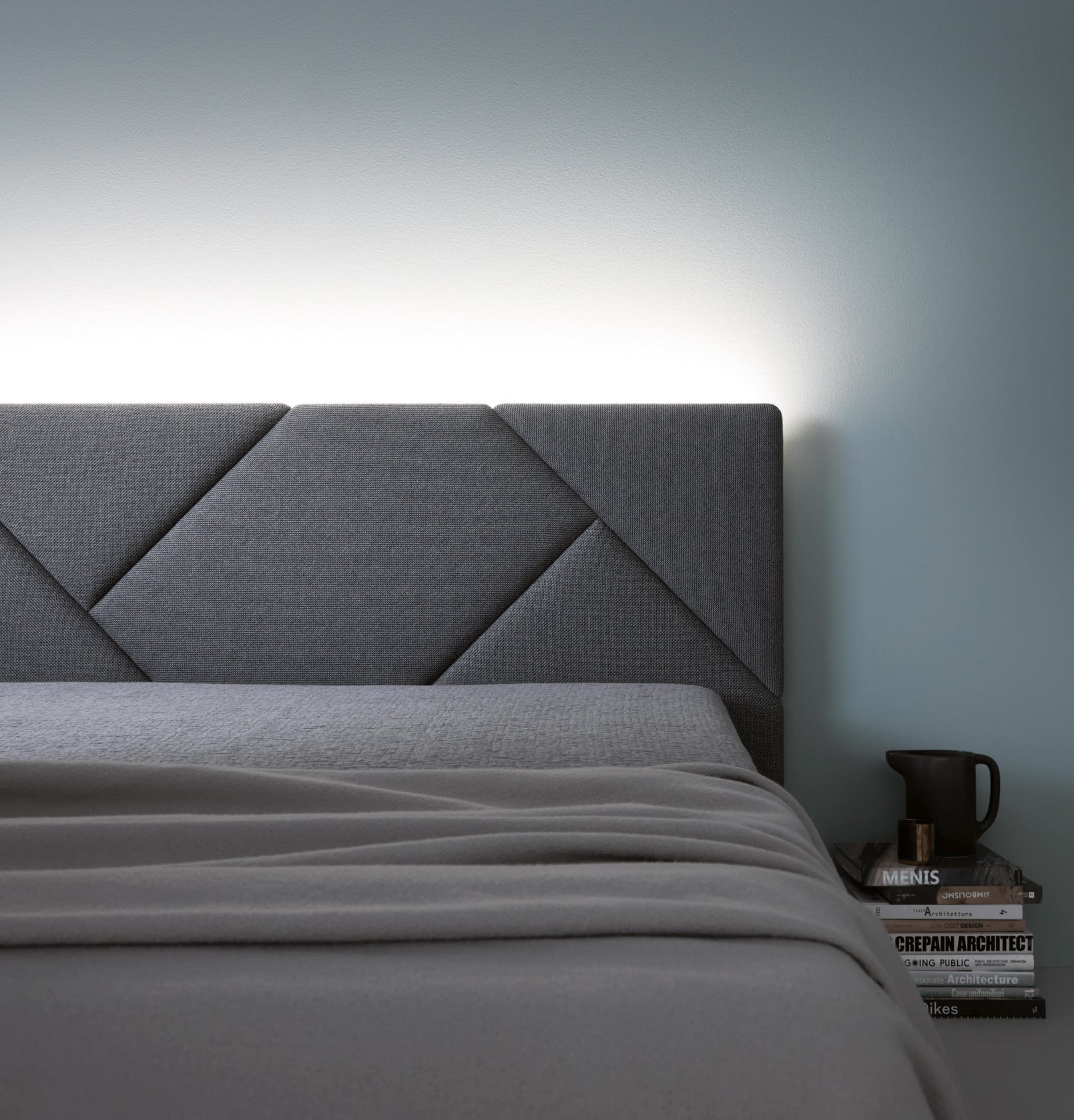 Caccaro Opus Bed Board Front Haute Living