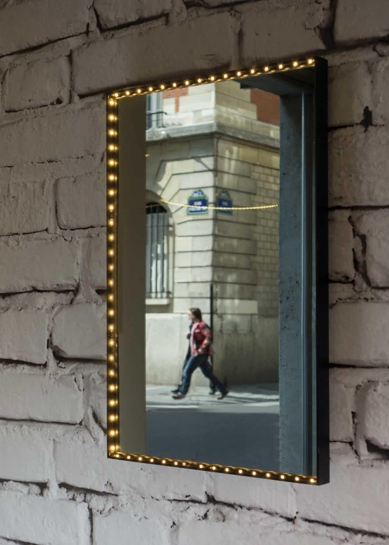 Le-deun-luminaires-vanity-square-wall-mirror-brick-wall-haute-living