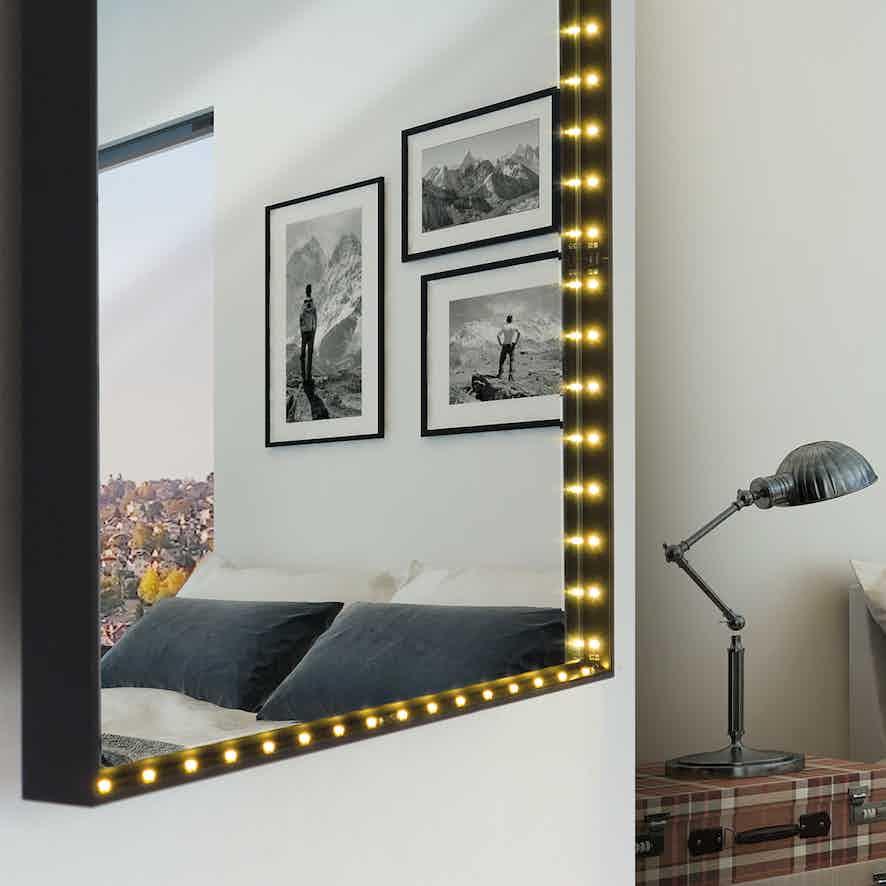 Le-deun-luminaires-vanity-square-wall-mirror-detail-haute-living