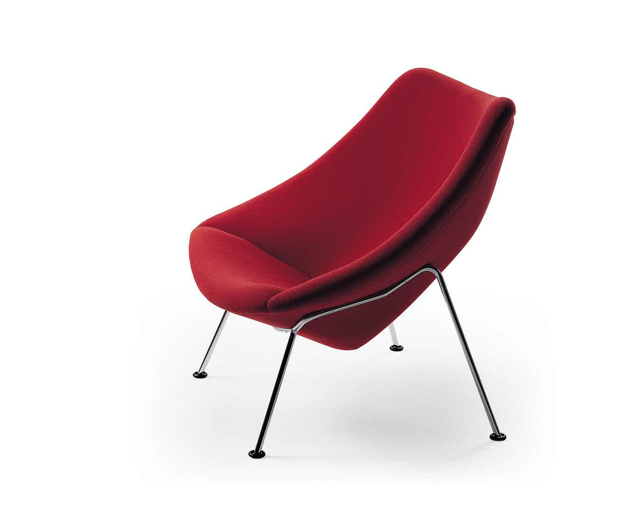 Artifort Red Oyster Chair Side