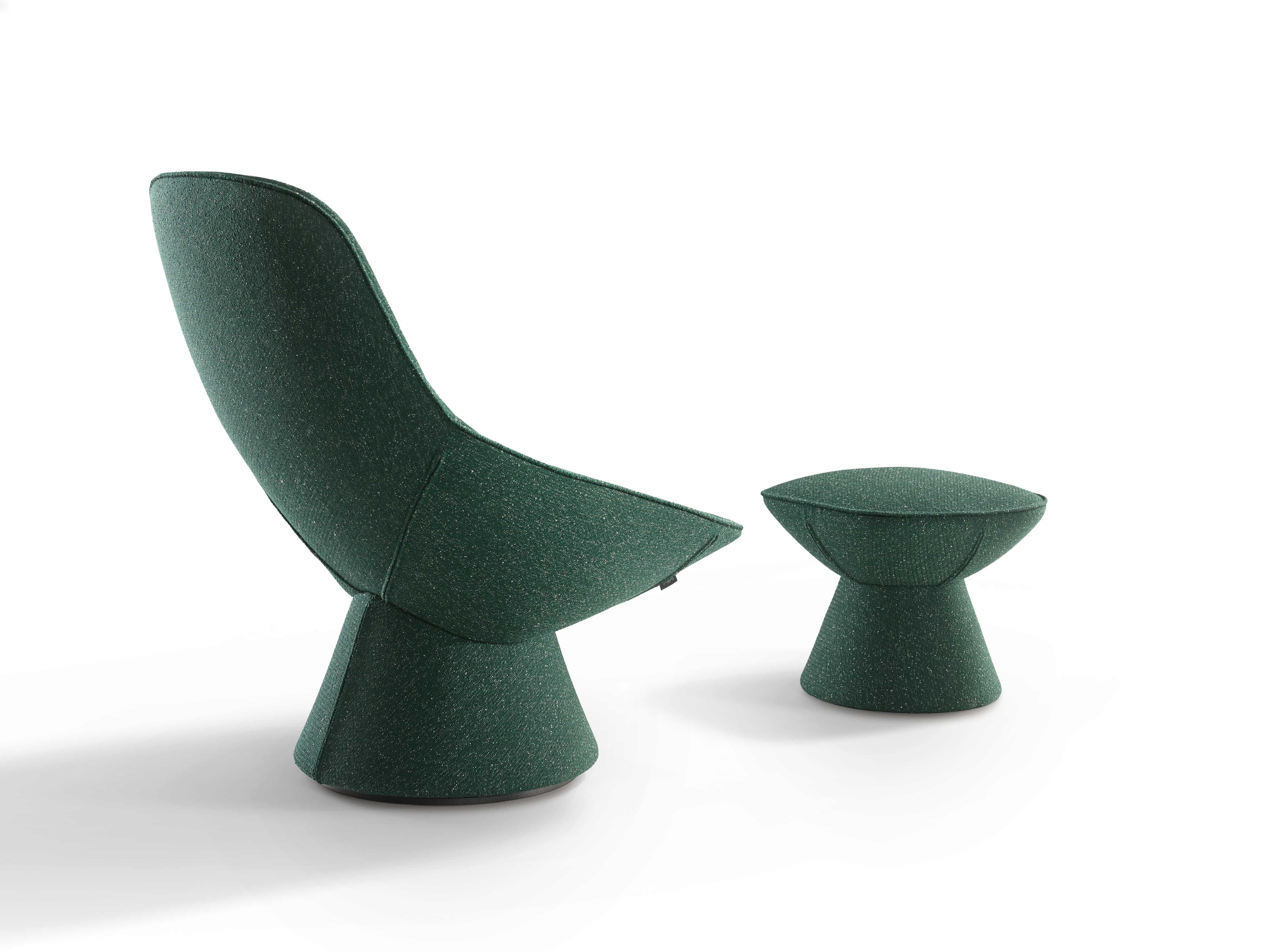 Artifort Green Pala Chair With Footstool Back