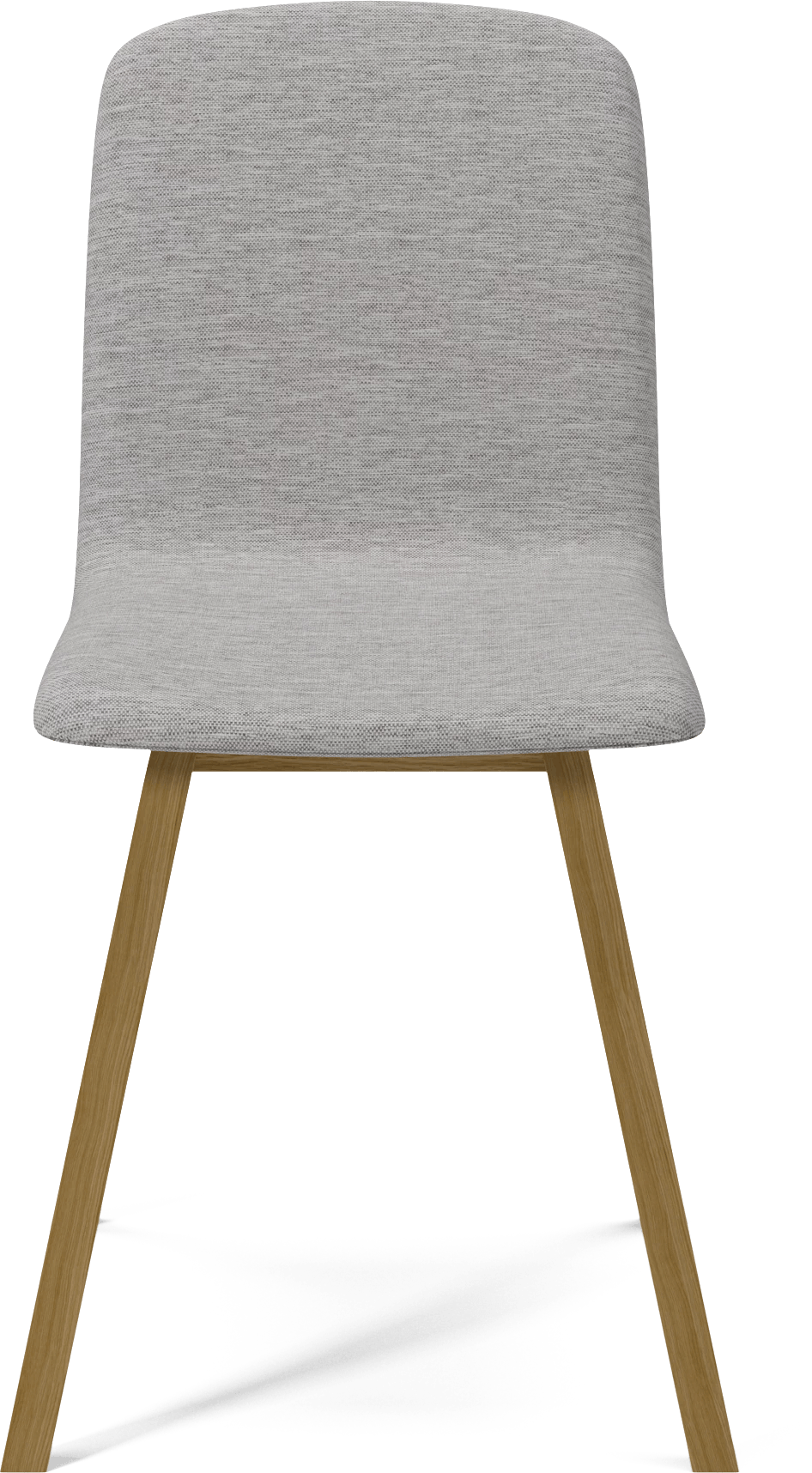 bolia light grey palm dining chair front haute living