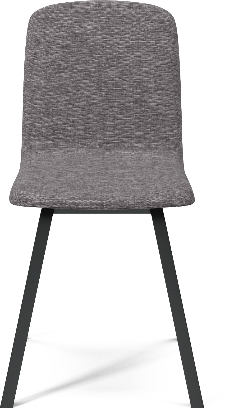 bolia dark grey palm dining chair front haute living