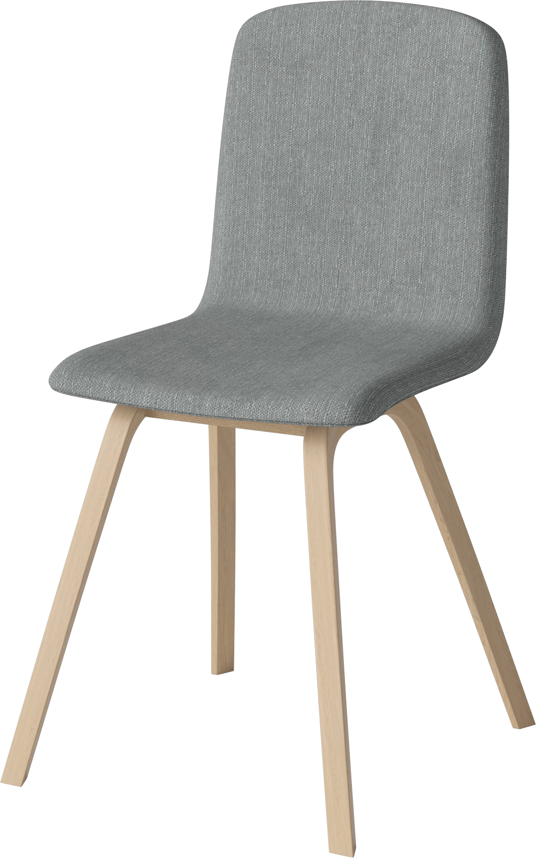bolia dark grey palm dining chair angle haute living