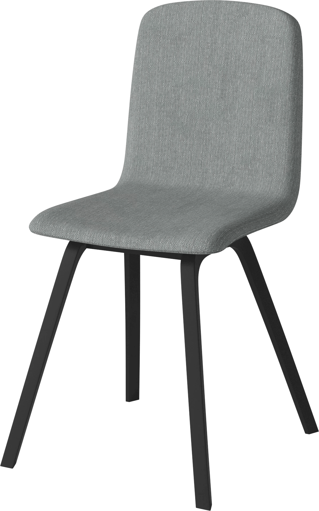 bolia grey palm dining chair angle haute living