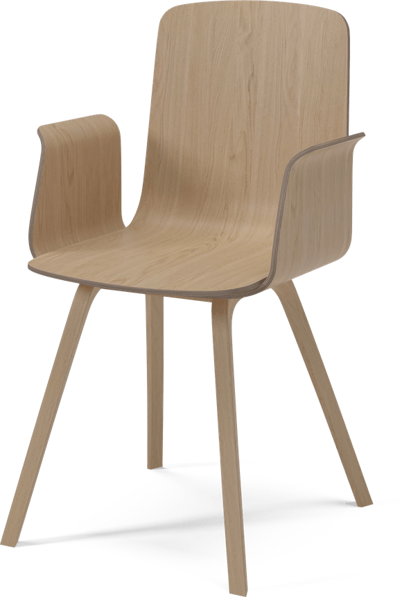 bolia wood palm dining chair with arms haute living