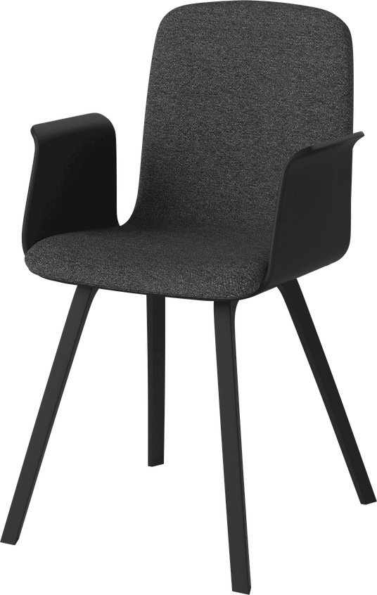 bolia black upholstered palm dining chair with arms haute living