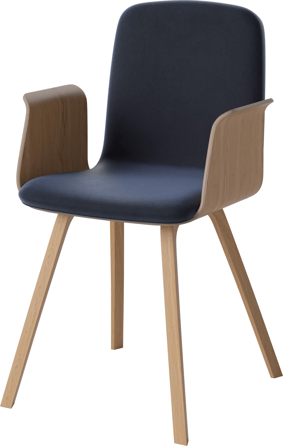 bolia blue palm dining chair with arms haute living